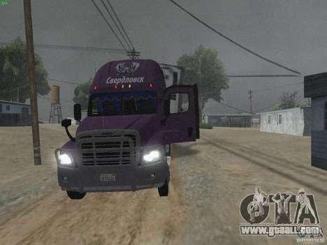 Freightliner Cascadia for GTA San Andreas inner view