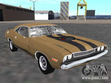 Dodge Challenger 440 Six Pack 1970 for GTA San Andreas right view
