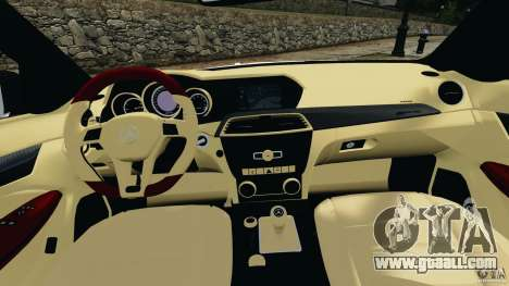 Mercedes-Benz C63 AMG 2012 for GTA 4 back view