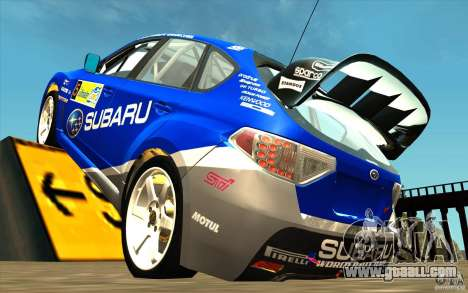 New vinyl to Subaru Impreza WRX STi for GTA San Andreas back left view