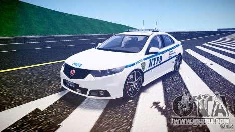 Honda Accord Type R NYPD (City Patrol 2322) ELS for GTA 4 back view