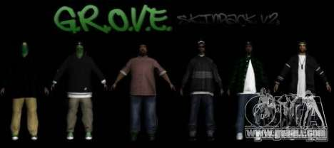 New skins Groove street family V2 for GTA San Andreas
