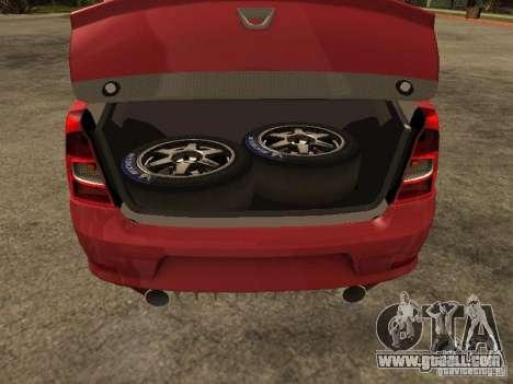 Dacia Logan Rally Dirt for GTA San Andreas back view