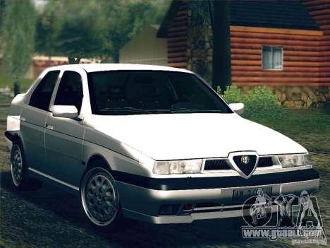 Alfa Romeo 155 1992 for GTA San Andreas inner view