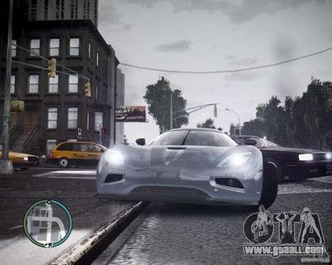 Koenigsegg Agera for GTA 4 left view