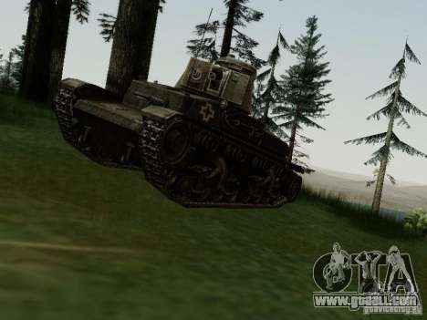 Pzkpfw-35t for GTA San Andreas back left view