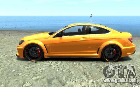 Mercedes-Benz C63 AMG 2012 for GTA 4 left view