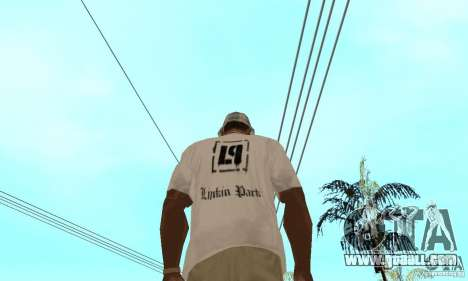 LP shirt white for GTA San Andreas second screenshot