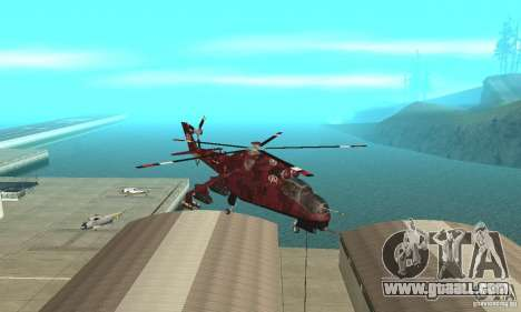 Mi-24 for GTA San Andreas back view