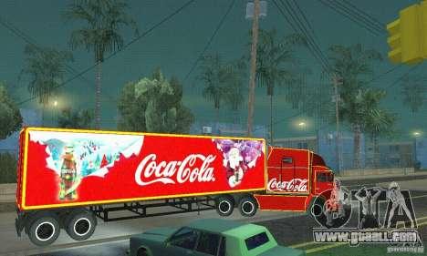 KAMAZ 54112 Christmas for GTA San Andreas left view