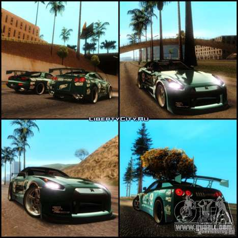 Nissan GT-R R35 rEACT for GTA San Andreas inner view