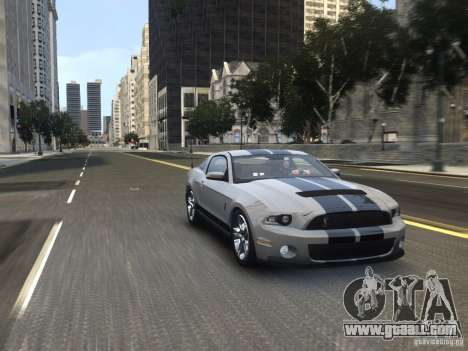 Shelby GT500 2010 for GTA 4 right view
