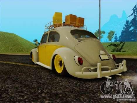 Volkswagen Beetle Edit for GTA San Andreas left view