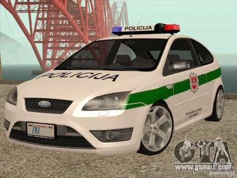 Ford Focus ST Policija for GTA San Andreas