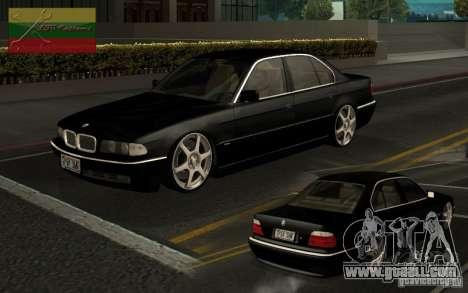 BMW 750i for GTA San Andreas