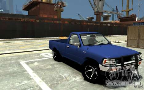 Toyota Hilux 1989-1993 Single cab v1 for GTA 4 back view