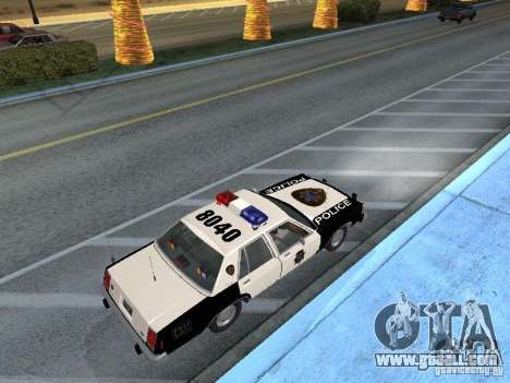 Ford LTD Crown Victoria Interceptor LAPD 1985 for GTA San Andreas back left view