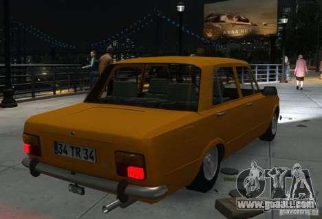 Fiat 124 for GTA 4 inner view