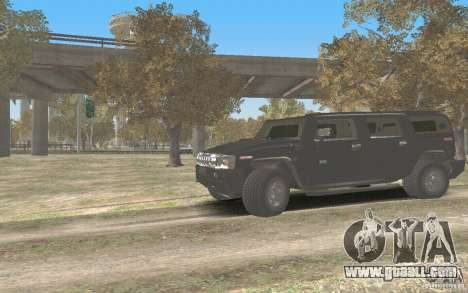 Hummer H2 Stock for GTA San Andreas left view