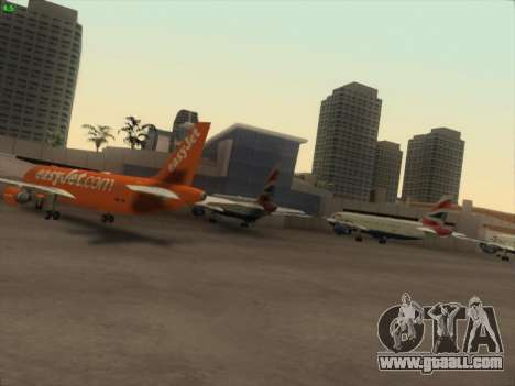 Airbus A320-214 EasyJet 200th Plane for GTA San Andreas right view