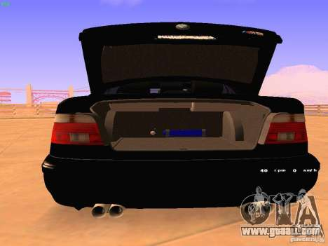 BMW M5 E39 Stanced for GTA San Andreas right view