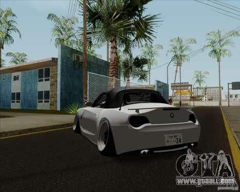 BMW Z4 Hellaflush for GTA San Andreas back left view