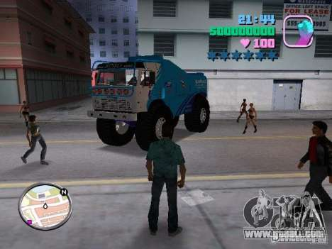 Kamaz Master for GTA Vice City back view