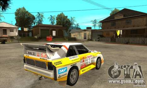 Audi Quattro S1 Group B for GTA San Andreas right view