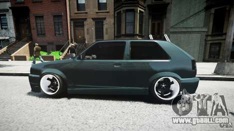 Volkswagen Golf 2 Low is a Life Style for GTA 4 upper view