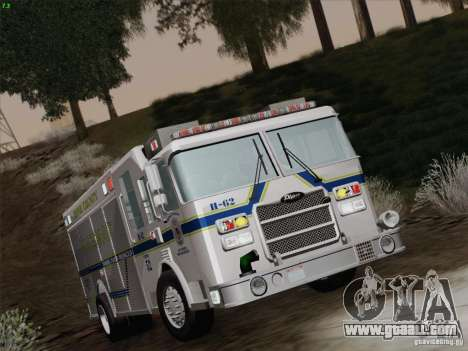 Pierce Fire Rescues. Bone County Hazmat for GTA San Andreas upper view