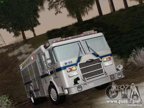 Pierce Fire Rescues. Bone County Hazmat for GTA San Andreas upper view