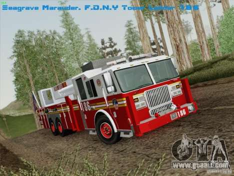 Seagrave Marauder. F.D.N.Y. Tower Ladder 186 for GTA San Andreas
