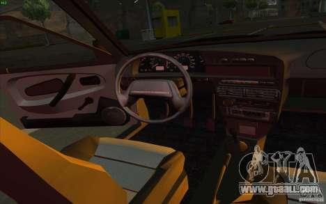 VAZ 2115 Stock v1.0 for GTA San Andreas inner view