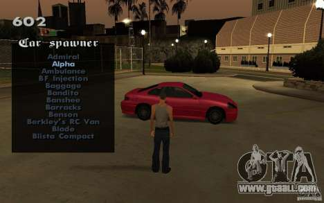 Vehicles Spawner for GTA San Andreas fifth screenshot