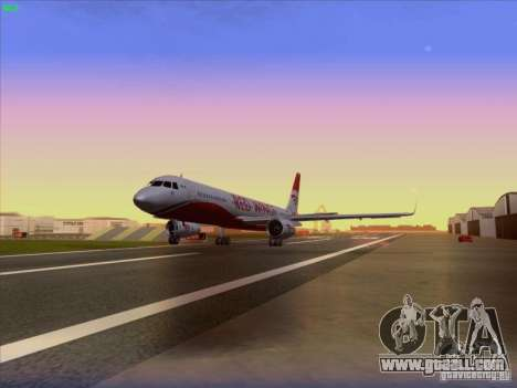 Tupolev Tu-204 Red Wings Airlines for GTA San Andreas back view