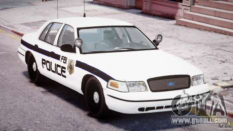 Ford Crown Victoria FBI Police 2003 for GTA 4 side view