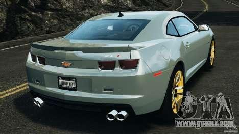 Chevrolet Camaro ZL1 2012 v1.2 for GTA 4 back left view