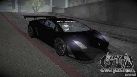 Lamborghini Gallardo LP560-4 GT3 for GTA San Andreas back view