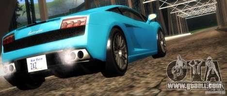 Lamborghini Gallardo LP560-4 for GTA San Andreas bottom view