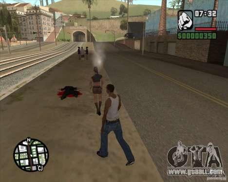 Passers-by exploding brains for GTA San Andreas second screenshot