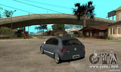 Volkswagen Gol G5 for GTA San Andreas back left view