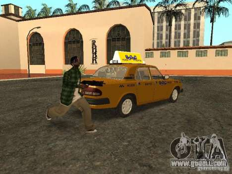 GAZ 3110 Taxi for GTA San Andreas back left view