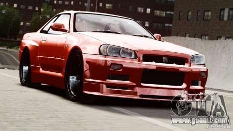Nissan Skyline GT-R (R34) Stance for GTA 4