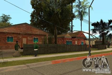 New textures of houses on Grove Street for GTA San Andreas