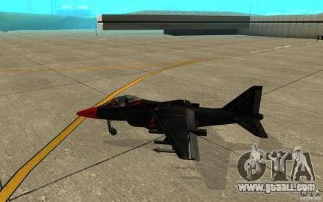 Black Hydra v2.0 for GTA San Andreas back left view