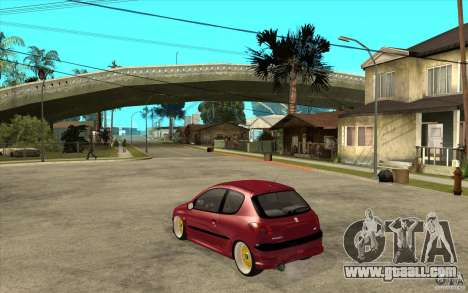 Peugeot 206 GTI for GTA San Andreas back left view