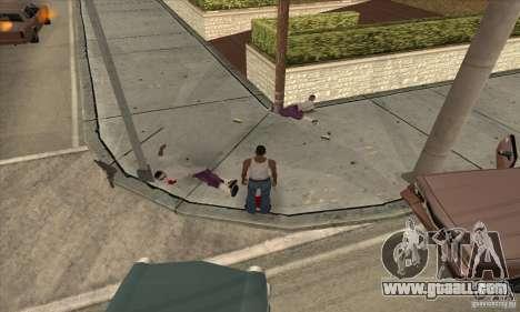 GTA SA Real ragdoll for GTA San Andreas second screenshot