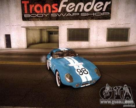 Shelby Cobra Daytona Coupe 1965 for GTA San Andreas back view