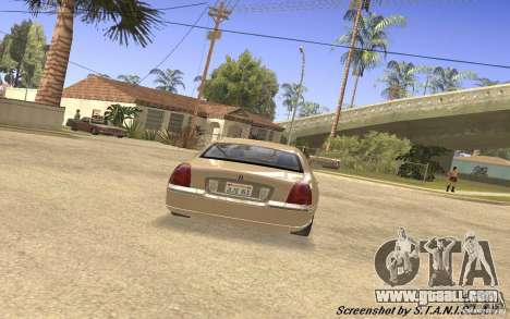 Lincoln Towncar Secret Service for GTA San Andreas right view
