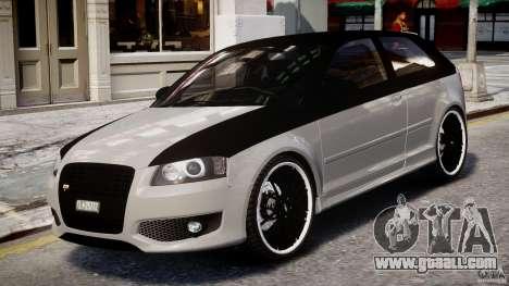 Audi S3 for GTA 4 left view